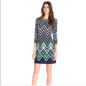 Eliza J Long Sleeve Jersey Shift Dress